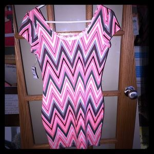 Charlotte Russe Pink Tribal Bodycon Dress